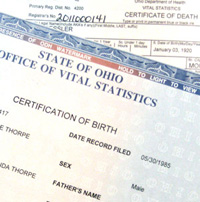 certificates of death state of ohio